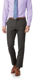 Grey extra slim fit merino business suit