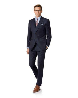 Slim Fit italienischer Luxus Anzug aus Twill in Marineblau