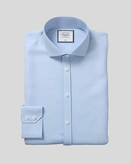 Spread Collar Non-Iron Twill Shirt - Sky