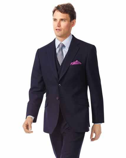 Navy classic fit British luxury suit jacket
