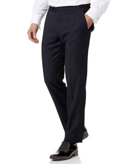 Midnight blue slim fit tuxedo trousers