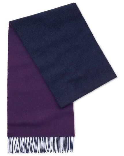 Purple ombre lambswool scarf
