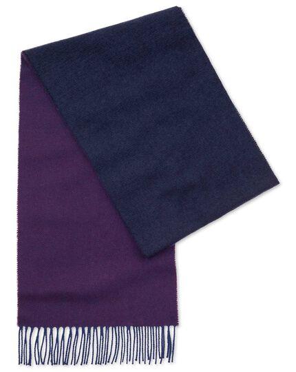 Écharpe violet dégradé en laine d'agneau