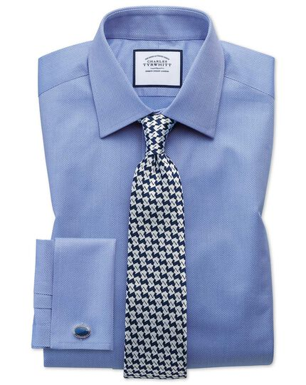 Cravate classique géométrique bleu marine en soie