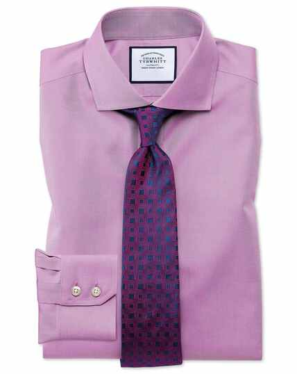 Cutaway Collar Non-Iron Twill Shirt - Violet