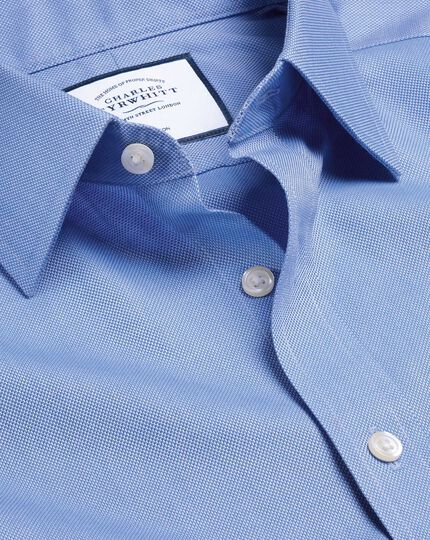Classic Collar Non-Iron Royal Oxford Shirt  - Blue