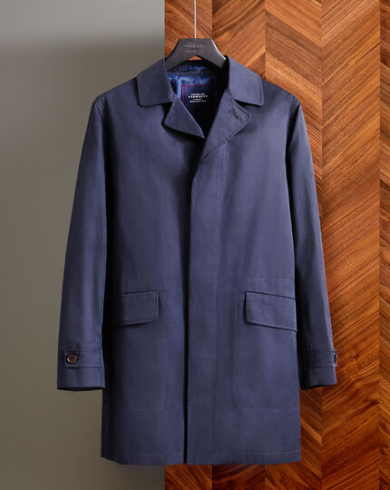 Italienischer Regenmantel - Marineblau