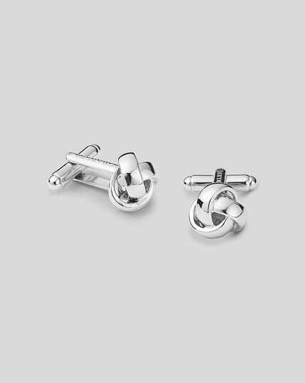 Knot Cufflink - Silver