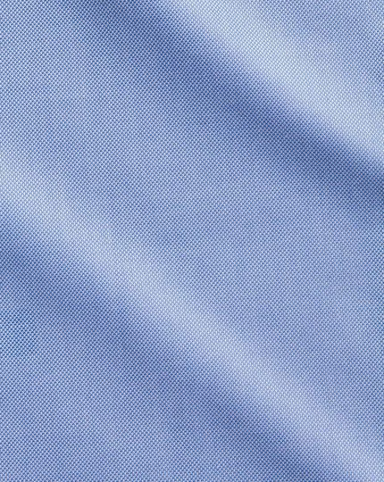 Slim fit non-iron blue royal Panama shirt
