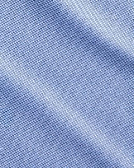 Chemise bleue en royal panama extra slim fit sans repassage