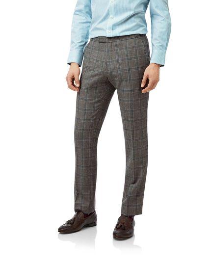 Grey Prince of Wales slim fit British luxury suit