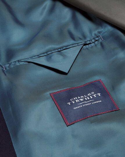 Wetterfester Car Coat aus Twill und Wolle in Marineblau