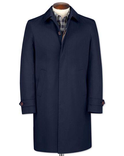 Slim fit blue raincoat
