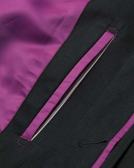 Black cotton raincoat