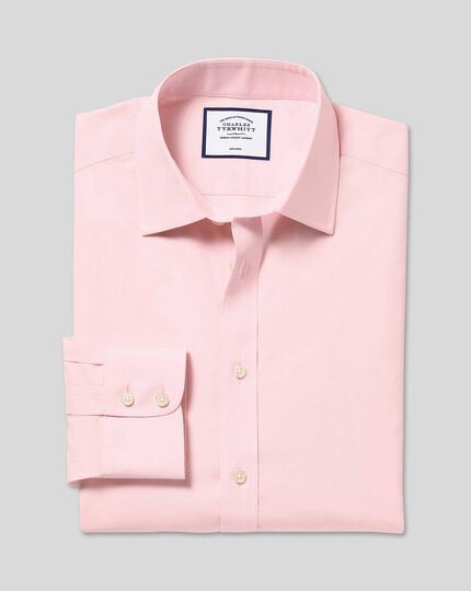 Non-Iron Poplin Shirt - Pink