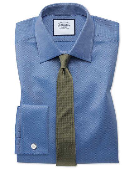 Schmale Krawatte mit Mini-Nadelpunkten in Olive