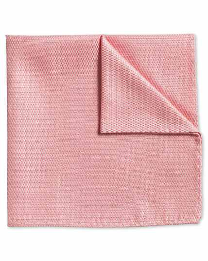 Peach classic plain pocket square