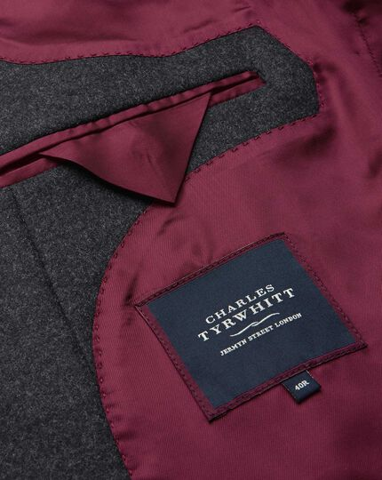 Grey wool and cashmere overcoat