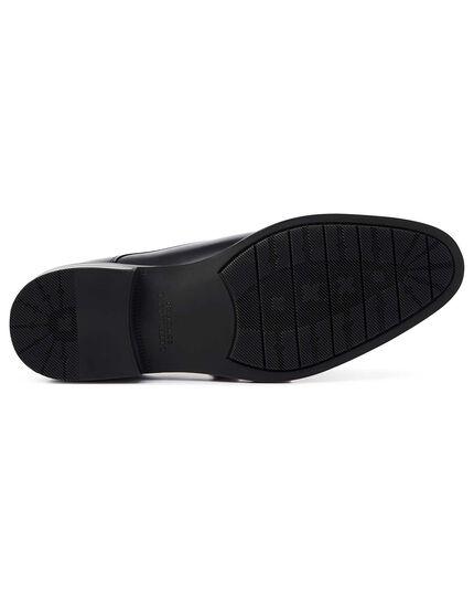 Black performance monk shoes