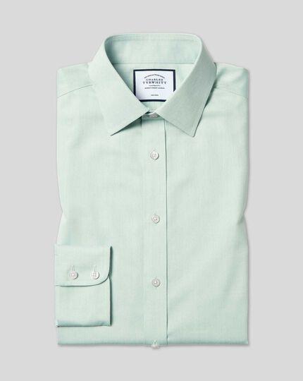 Chemise à Petits Losanges et col classique sans repassage - Vert