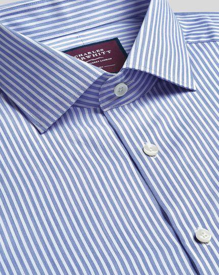 Semi-Spread Collar Luxury Stripe Shirt- Sky