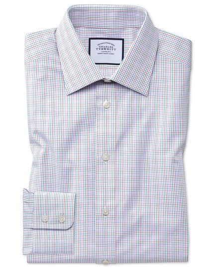 Classic fit pink multi check Egyptian cotton shirt
