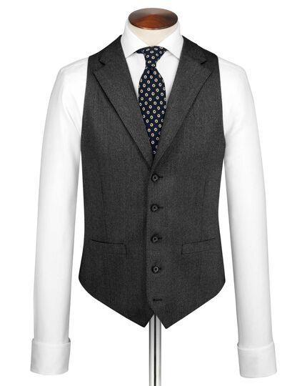 Grey saxony business suit vest