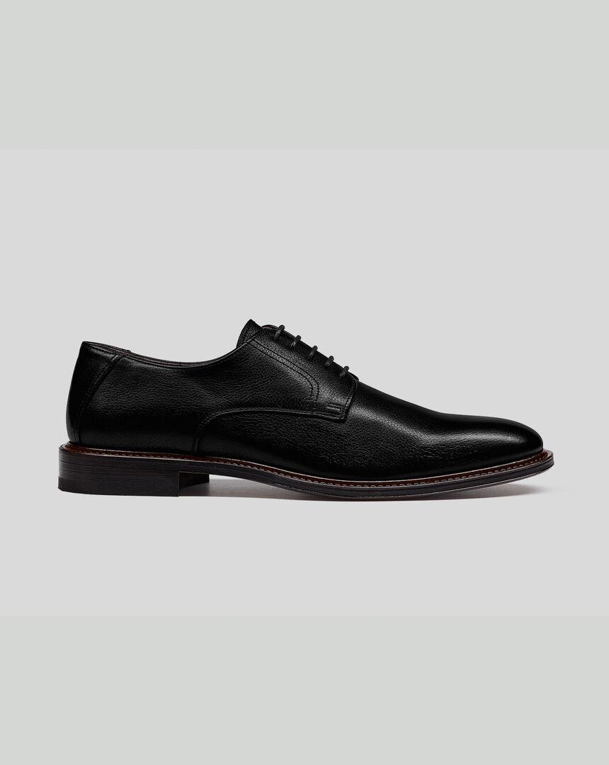 Derby-Schuhe mit flexibler Sohle - Schwarz