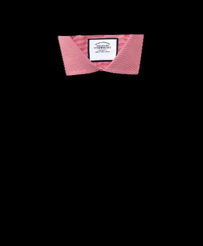 Chemise rose vif extra slim fit à motif pied-de-poule et col cutaway sans repassage