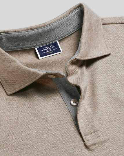 Cotton Hemp Polo - Mocha