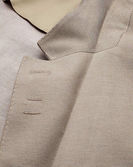 Slim Fit Blazer aus Baumwoll-Stretch in Leichtgrau