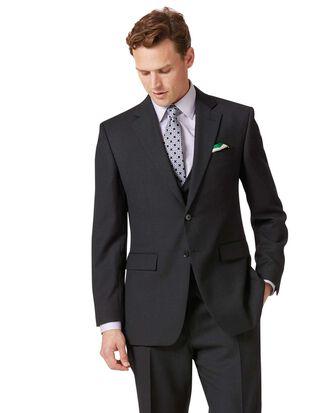 Classic Fit Business Anzug Sakko aus Twill in Anthrazit