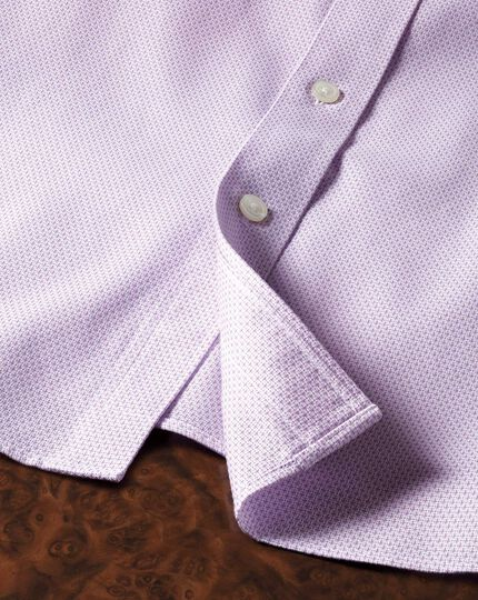 Classic fit non-iron imperial weave lilac shirt