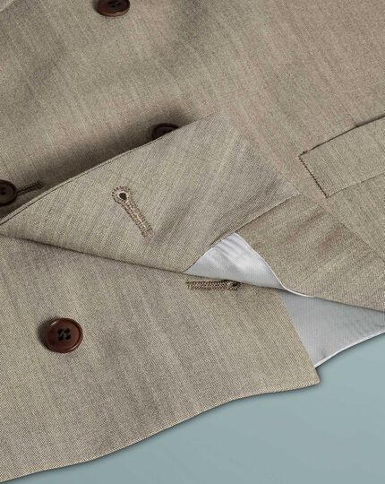 Natural adjustable fit British suit waistcoat