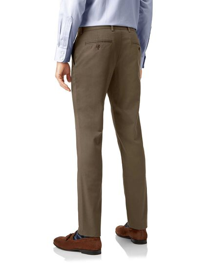Mocha non-iron ultimate chinos