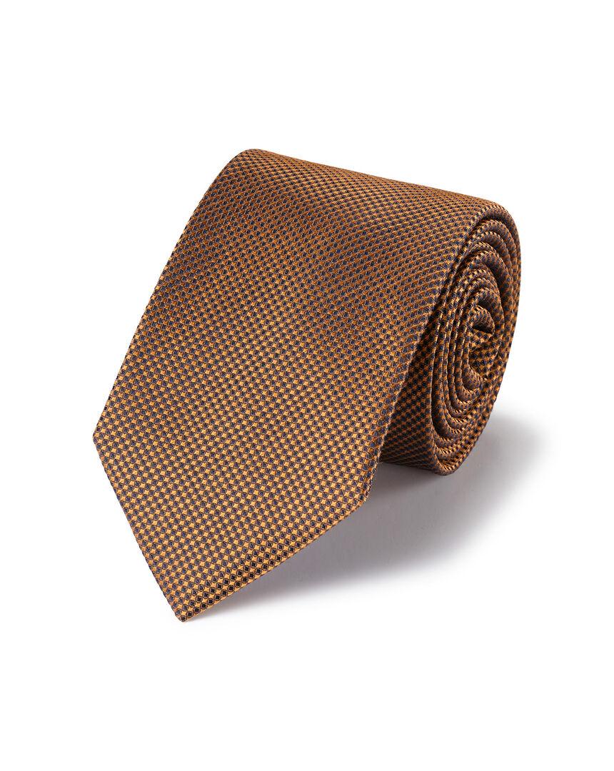 Strukturierte schmutzabweisende Krawatte aus Seide - Kupfer