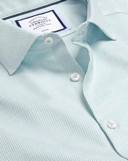 Smart Casual Collar Non-Iron Stretch Texture Shirt - Green