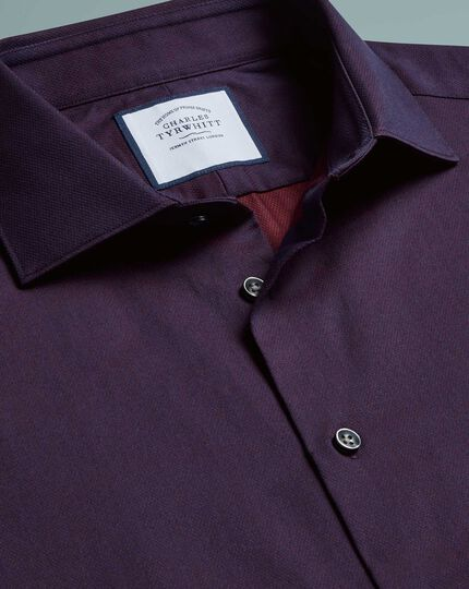 Extra slim fit micro diamond purple shirt