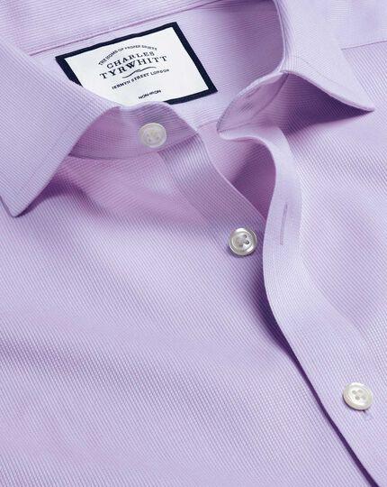Cutaway Collar Non-Iron Cotton Stretch Shirt - Lilac