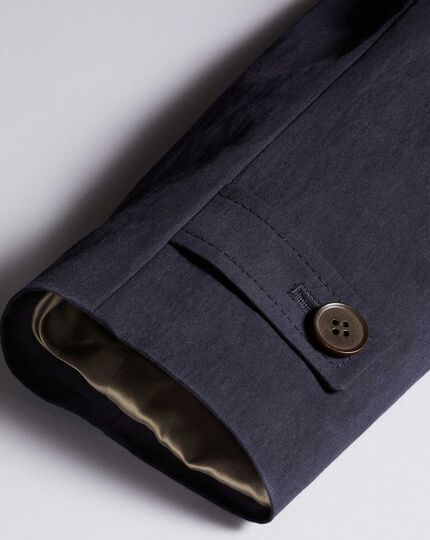 Navy Italian cotton raincoat