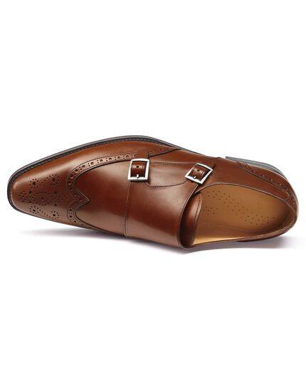 Budapester-Schuhe mit Doppelschnalle in Kastanienbraun