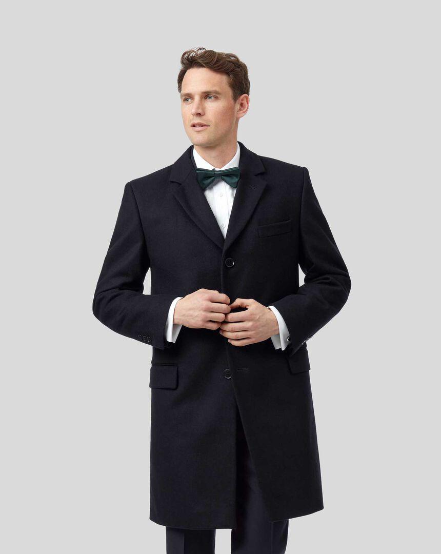 Mantel aus italienischem Wolle-Kaschmir-Mix - Marineblau