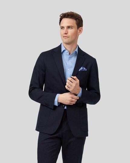 Italienische Anzugsakko aus Baumwolle - Marineblau