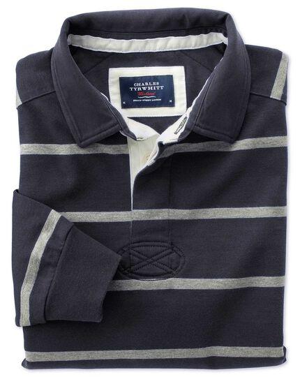 Navy And Grey Stripe Rugby Shirt Charles Tyrwhitt