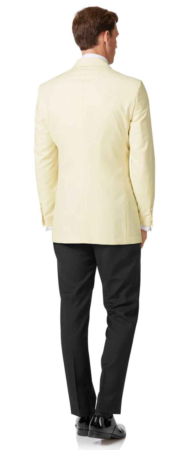 Cream slim fit dinner suit