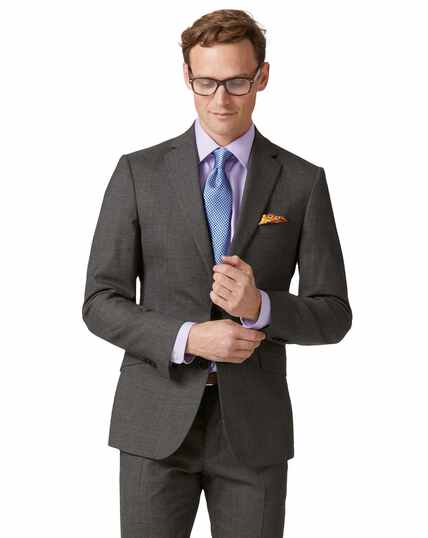 Grey extra slim fit merino business suit jacket