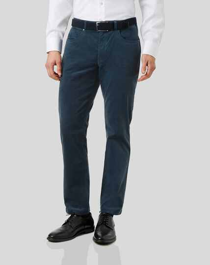 Cord 5-Pocket Trousers - Teal