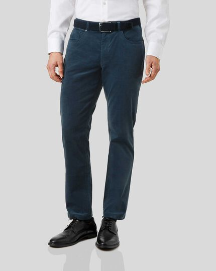 Cord 5-Pocket Pants - Teal