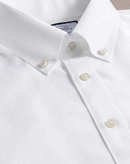 Extra slim fit button-down non-iron twill white shirt