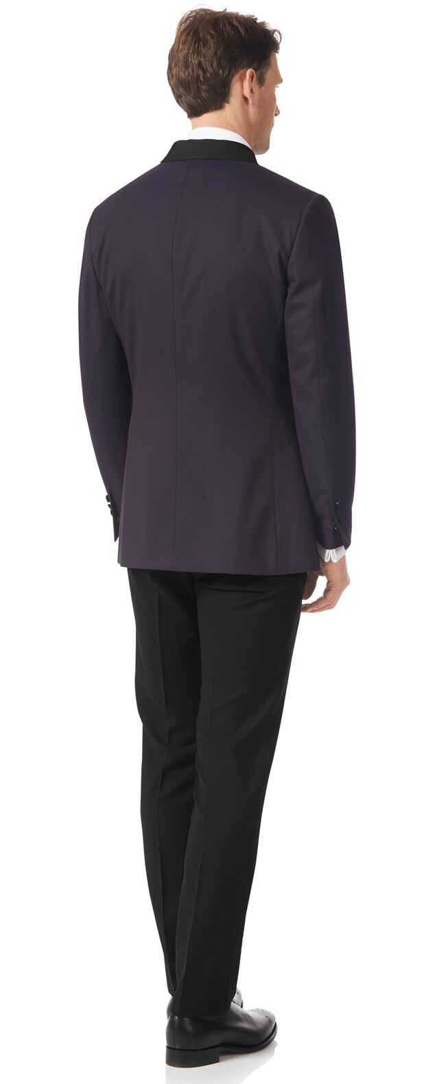 Aubergine slim fit dinner suit